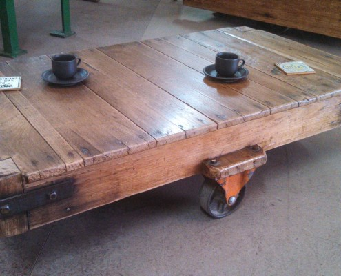 Coffee Table Trolley - Salvaged & Repurposed
