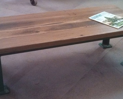 Industrial Green Metal Coffee Table-2