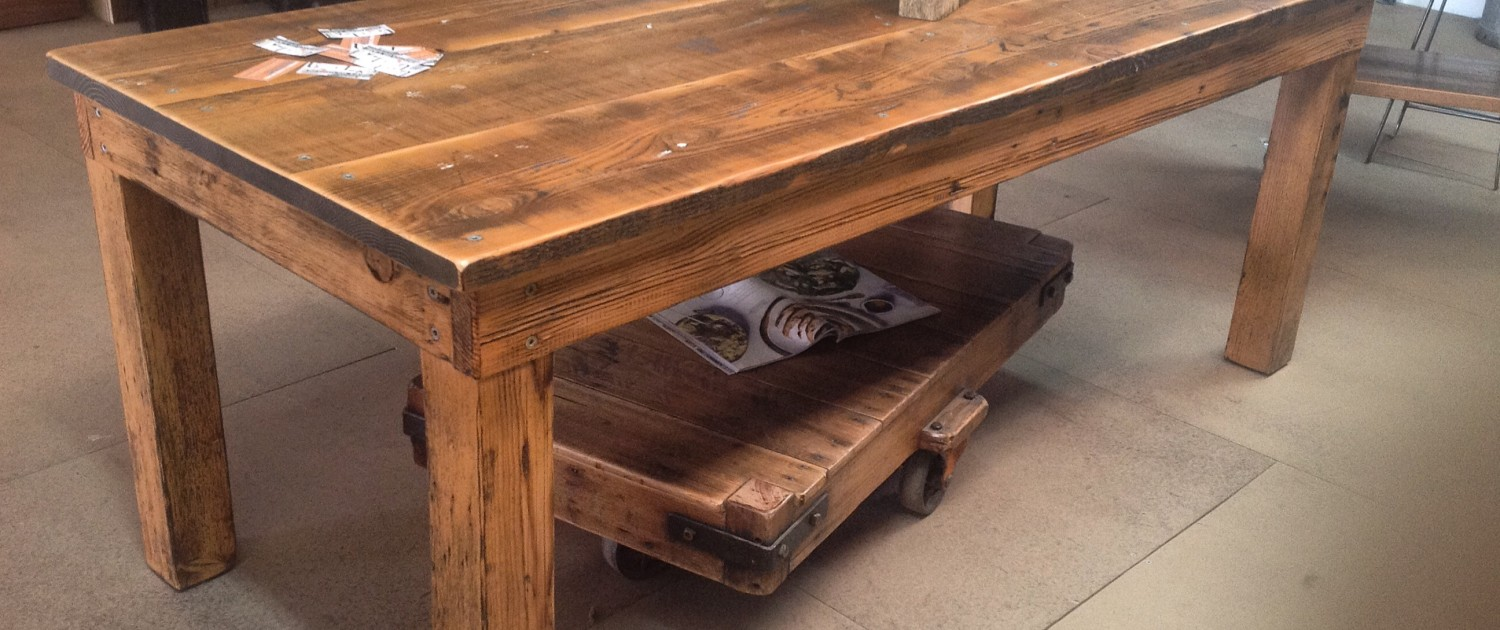 Aged Recycled Oregon Dining Table