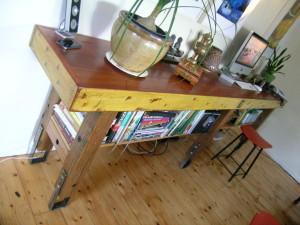 Retro Fit Kitchen 5- Bespoke School Style Bench