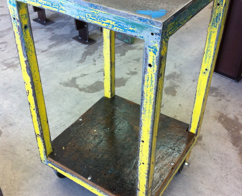 Square Metal Trolley Workstation