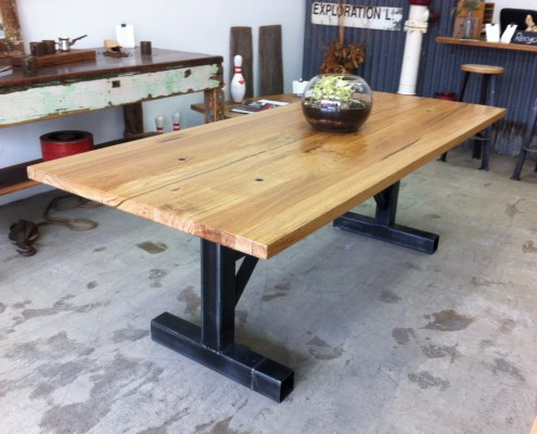 """I"" Frame Table with Messmate Top"