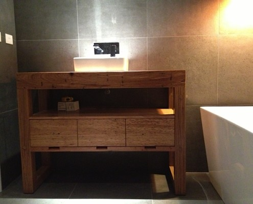 Bespoke Bathroom Vanity with Drawers - Front View