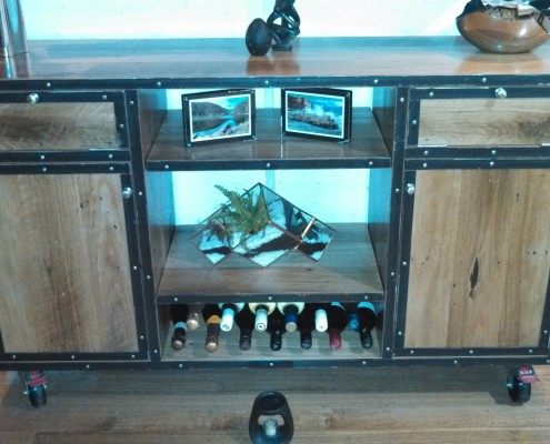 Bespoke Industrial Style Entertainment Unit