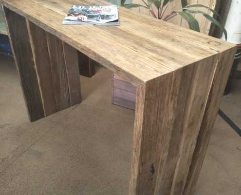Recycled Hardwood Console - Waterfall Design