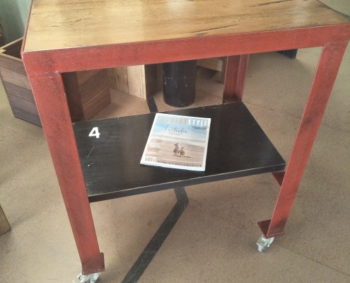 The #4 Kitchen Trolley : Workstation - Blackbutt Top