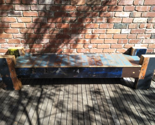 Wharf Style Bench Seat - Recycled Oregon & Recycled Hardwoods