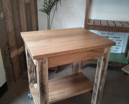 Recycled Blackbutt Workstation - Portable Island Bench